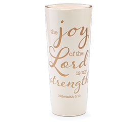 THE JOY OF THE LORD CERAMIC VASE