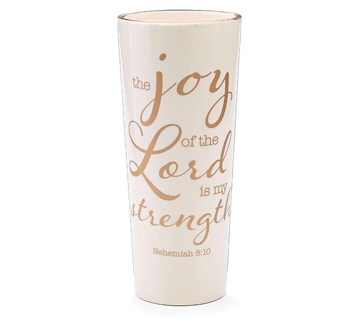 THE JOY OF THE LORD CERAMIC VASE