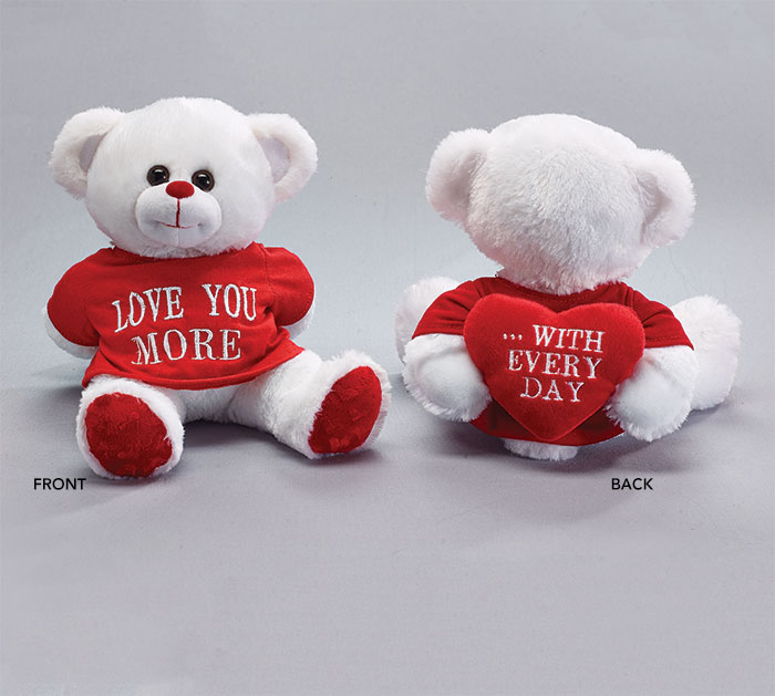 PLUSH LOVE YOU MORE/WITH EVERY DAY BEAR