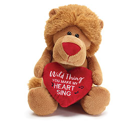 PLUSH MUSICAL WILD THING VALENTINE LION