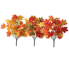 MIXED FALL MAPLE LEAF SILK BUSH