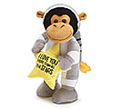 PLUSH LOVE YOU MORE ASTRONAUT MONKEY