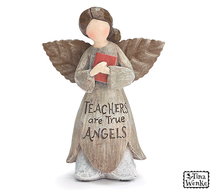 TEACHERS ARE TRUE ANGELS FIGURINE