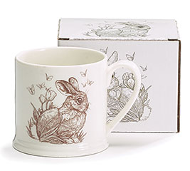 NATURAL SPRING BUNNY CERAMIC MUG