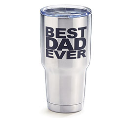 BEST DAD EVER STAINLESS TRAVEL TUMBLER