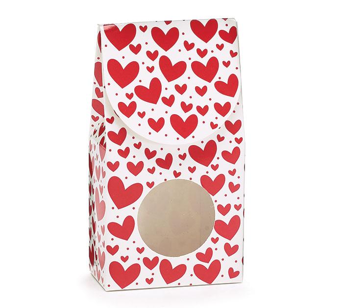 RED  WHITE VALENTINE CANDY BOX