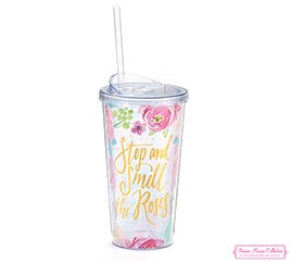 STOP AND SMELL THE ROSES TRAVEL CUP