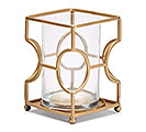 LARGE GRAPHIC METAL BASE CANDLEHOLDER