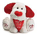 PLUSH MY HEART BELONGS TO YOU DOG