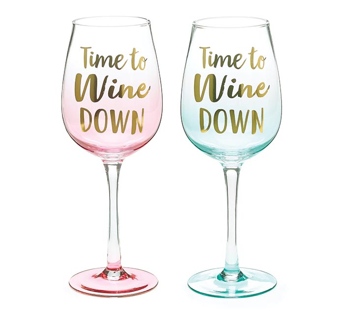 TIME TO WINE DOWN GLASS SET