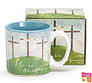 HE IS RISEN CERAMIC MUG W/ BOX