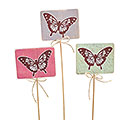 SPRING BUTTERFLY WOOD PICK SET