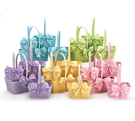 WOOD BASKET SPRING COLOR ASSORTMENT