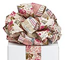 #40 VINTAGE ROSES ON LINEN WIRED RIBBON