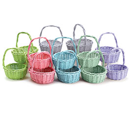 SPRING COLOR WILLOW BASKET ASSORTMENT