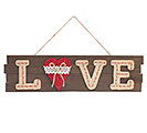WOOD/BURLAP LOVE WALL HANGING
