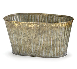 "4"" GOLD BRUSHED TIN DOUBLE PLANTER"