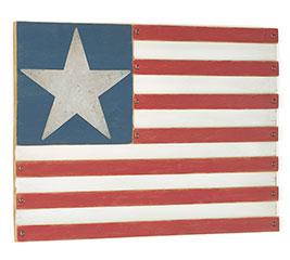 PATRIOTIC WOOD FLAG WALL HANGING