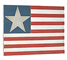 PATRIOTIC WOOD FLAG WALL HANGING