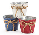 "4"" RED/WHITE/BLUE DISTRESSED POT COVER S"