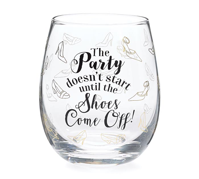 PARTY/SHOES STEMLESS WINE GLASS