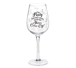 PARTY/SHOES WINE GLASS