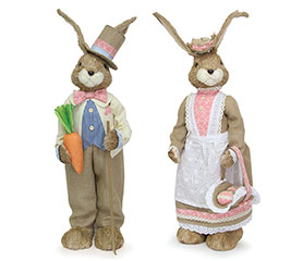 2 PIECE SISAL SUNDAY BUNNY COUPLE SET