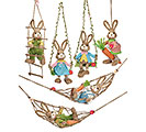 6 PIECE SISAL SWINGING SUNDAY BUNNY SET