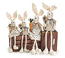 LONG LEG FABRIC BUNNY FAMILY SET