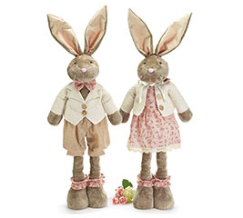 PLUSH EXPANDABLE BUNNY COUPLE