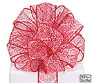 #9 TIMELESS ROMANCE RED WIRED RIBBON
