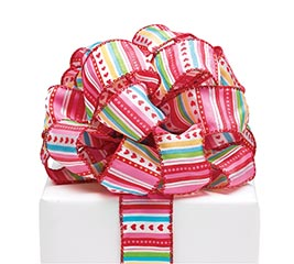 #9 LUV N' COLOR STRIPE WIRED RIBBON