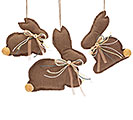 LINEN FABIC BUNNY ORNAMENT SET