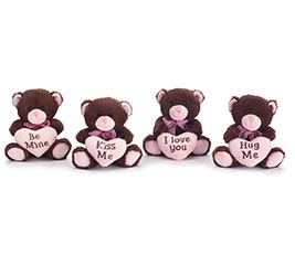 CHOCOLATE VALENTINE BEAR VASE HUGGER SET