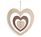 SPINNING LAYERED HEART WALL HANGING