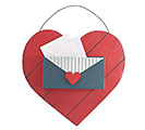 LOVE LETTERS HEART MAIL BOX WALL HANGING 1st Alternate Image