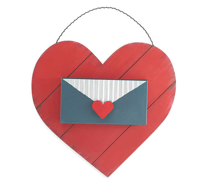 LOVE LETTERS HEART MAIL BOX WALL HANGING
