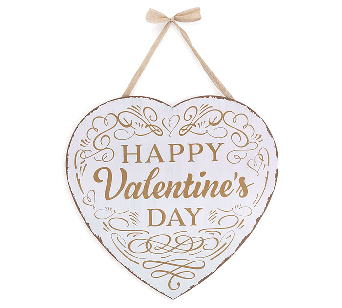 HAPPY VALENTINE'S DAY HEART WALL HANGING
