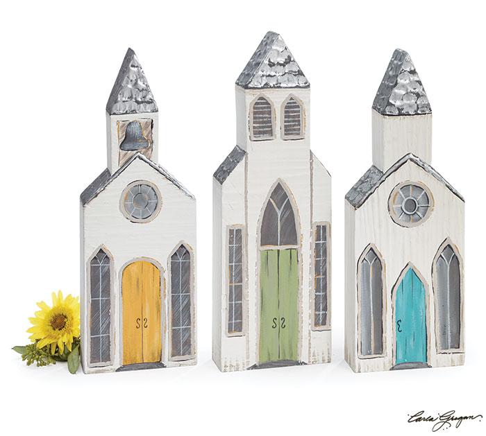 SONRISE WOOD BLOCK CHURCH SET