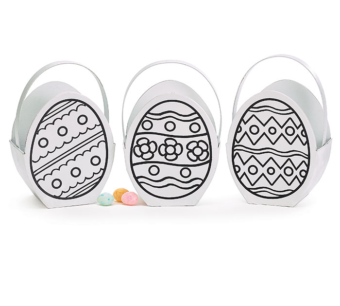 COLOR YOUR OWN PAPERBOARD EGG BOX