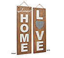LOVE/HOME REVERSIBLE WOOD WALL HANGING