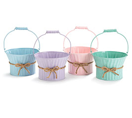 SPRING COLORS TIN BASKET SET