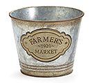 "4"" FARMERS MARKET TIN POT COVER"
