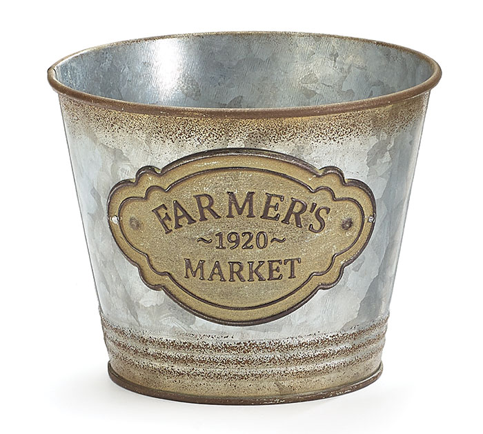 "4"" FARMERS MARKET TIN POT COVER"