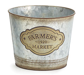 "6"" FARMERS MARKET TIN POT COVER"