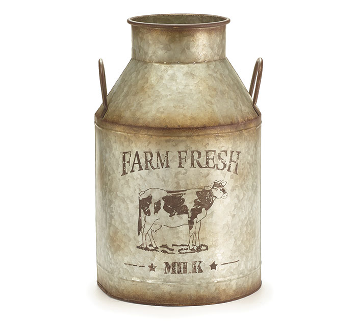 FARM FRESH LARGE MILK JUG DECOR