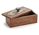 WOOD BOX WITH ANTIQUE DOOR KNOB 1st Alternate Image