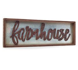 FARMHOUSE TIN/WOOD WALL HANGING