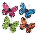 SPRING COLORS LINEN BUTTERFLY CLIP