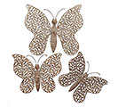 RUSTIC METAL BUTTERFLY WALL HANGING SET